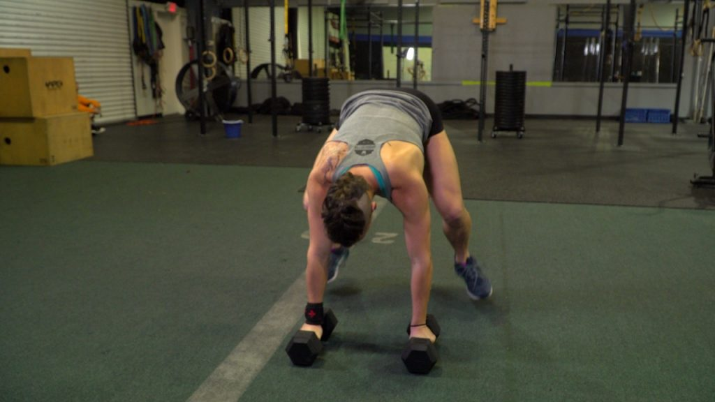 How to do Man Makers with Dumbbells - step 5